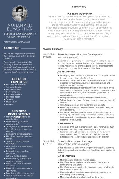 Senior Manager Business Development Resume Example Marketing Resume Resume Examples Manager Resume