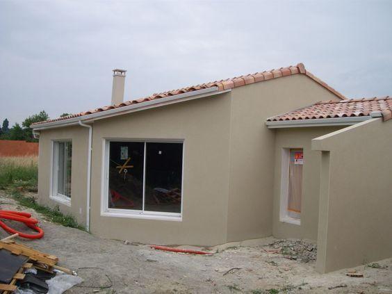 Parexlanko terre feutrée t60 peinture façade maison Pinterest - peinture de facade maison
