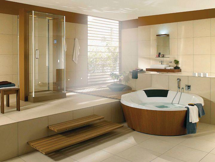 par sa grande taille la baignoire dangle demi ronde en quaryl attire - Taille Grande Salle De Bain