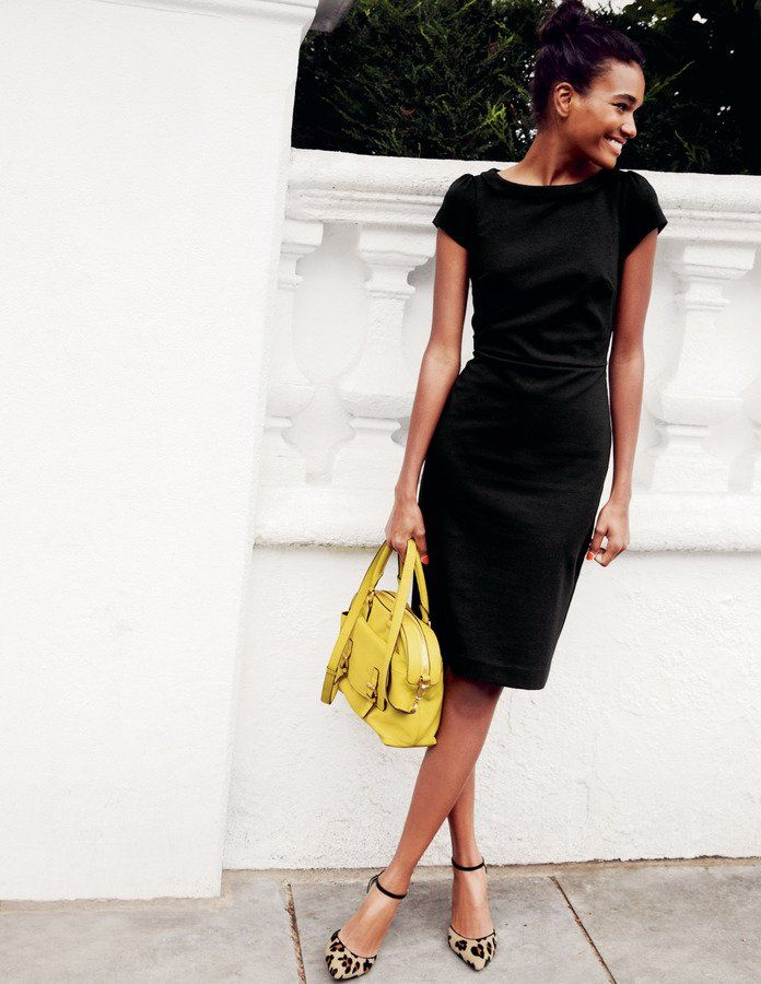 603fb186 Pin for Later: You'll Look Like a Boss All Season in These Work Dresses  Boden Sheath Dress Boden Audrey Ponte Dress ($148)