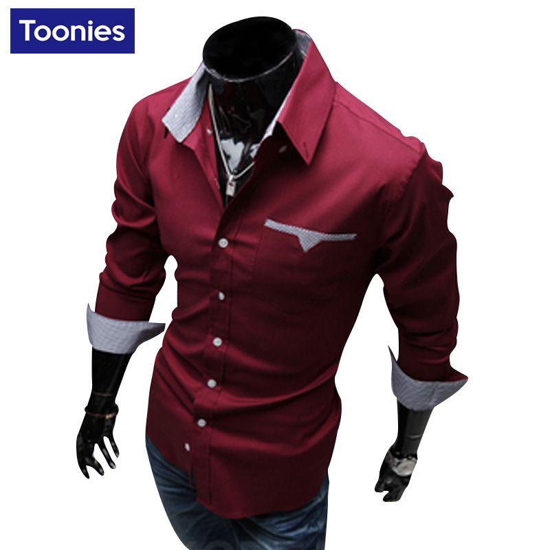 Camisa Sociale Masculina 2017 Nieuwe Merk Kleding Chemise Homme Casual Business Mannen Shirt Single Breasted Slim Fit Mens Shirt