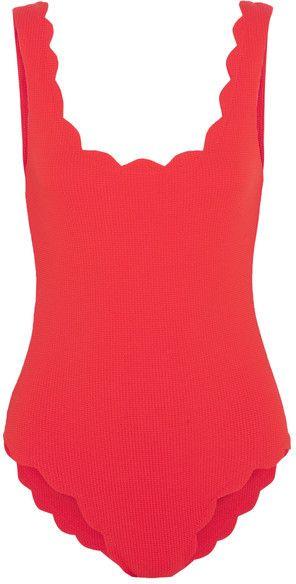 60e707998e23e Marysia - Palm Springs Scalloped Swimsuit - Red | Wish List ...