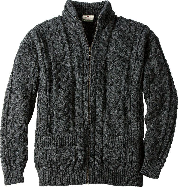 Authentic Irish Donegal Merino Wool Sweater: This handsome sweater ...