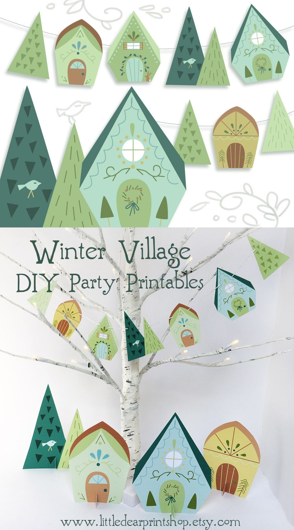 create your own adorable christmas village holiday party decor