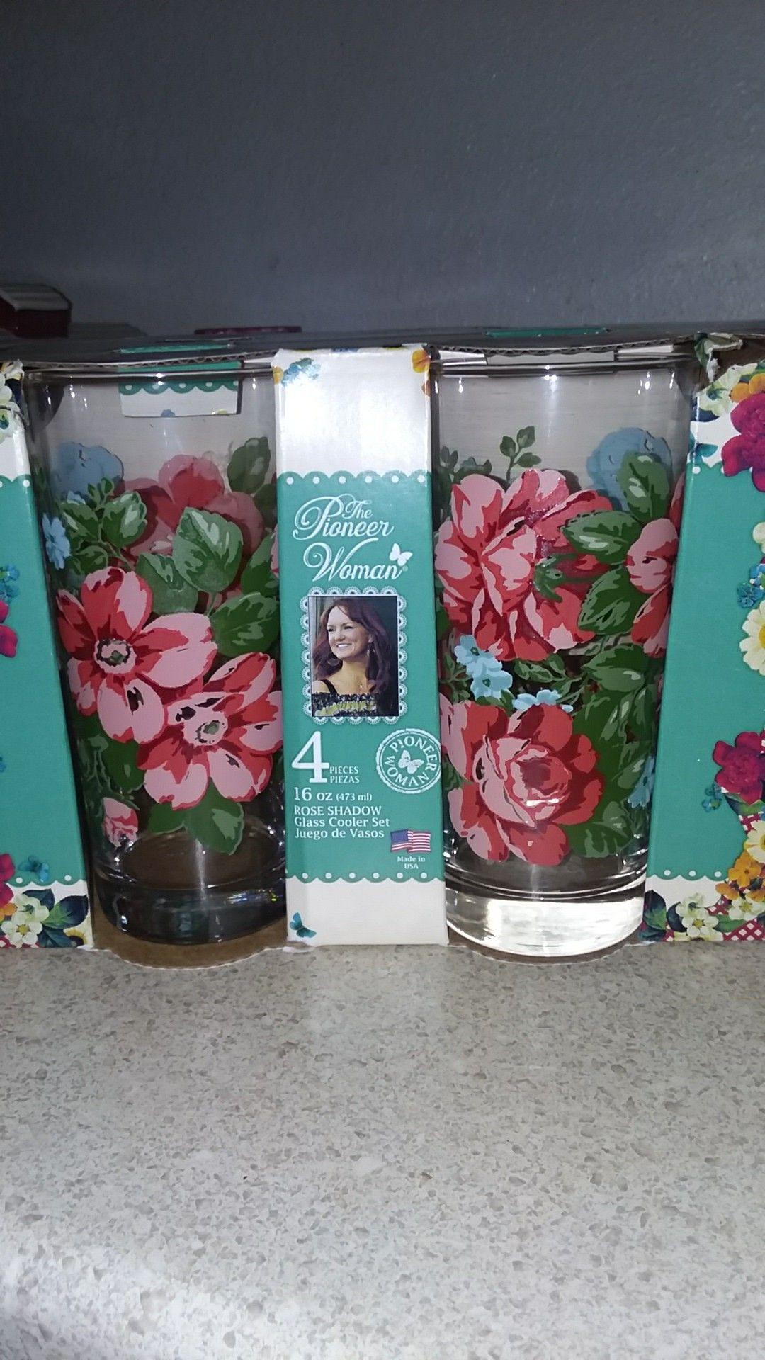 Pioneer Woman Rose Shadow Glass Cooler set | pioneer women ...