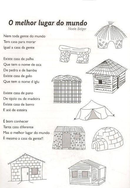 Tipos De Casa Com Imagens Atividades Para Educacao Infantil