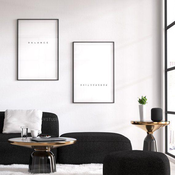 Inspirational Wall Art Decor Unframed 8x10 Inhale Exhale Wall Art Prints Set of 2
