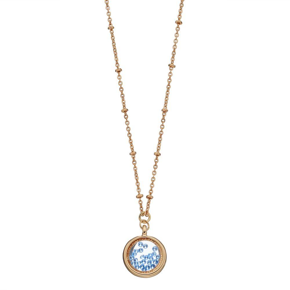 LC Lauren Conrad Birthstone Shaker Pendant Necklace, Women's, Blue
