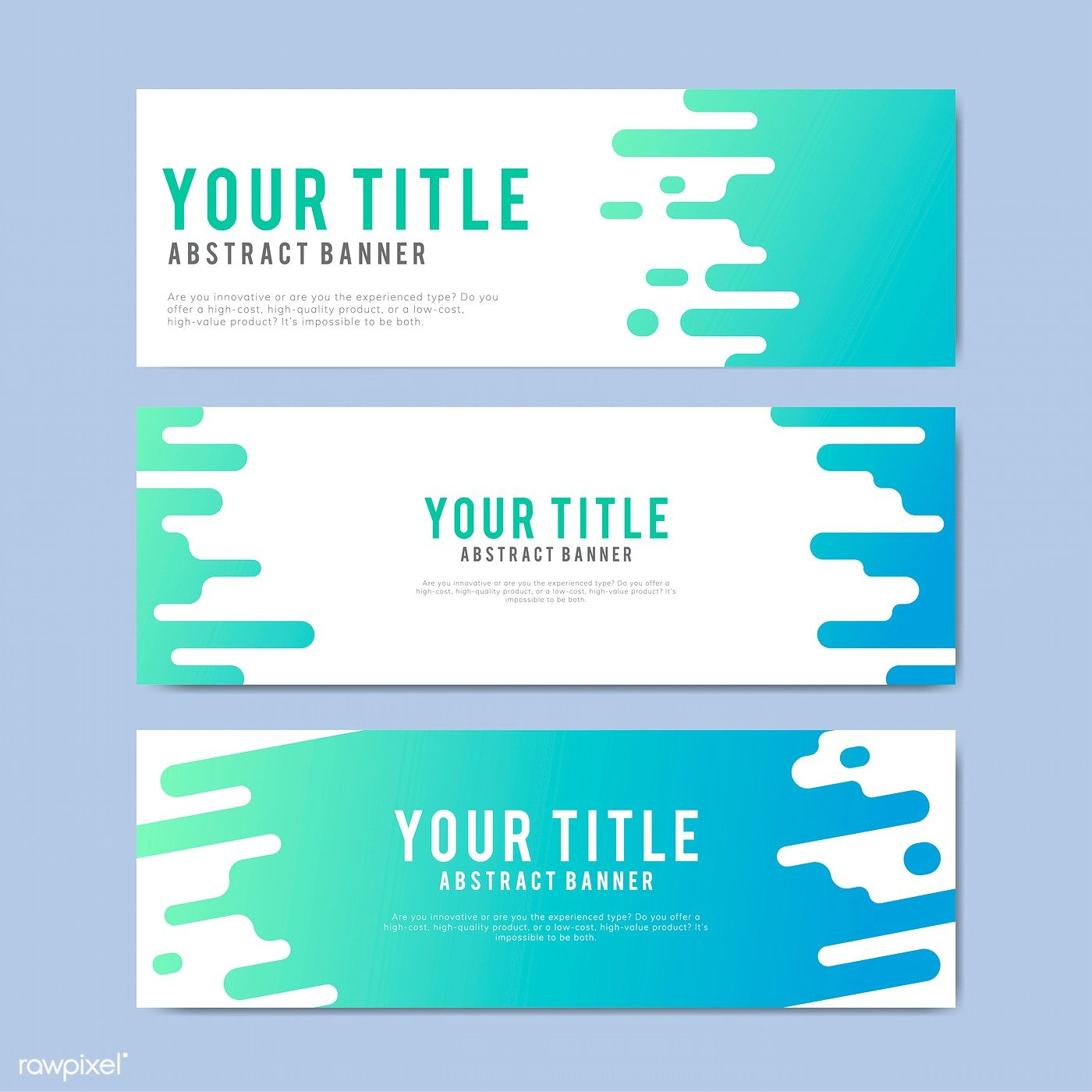 Colorful and abstract banner design templates free image