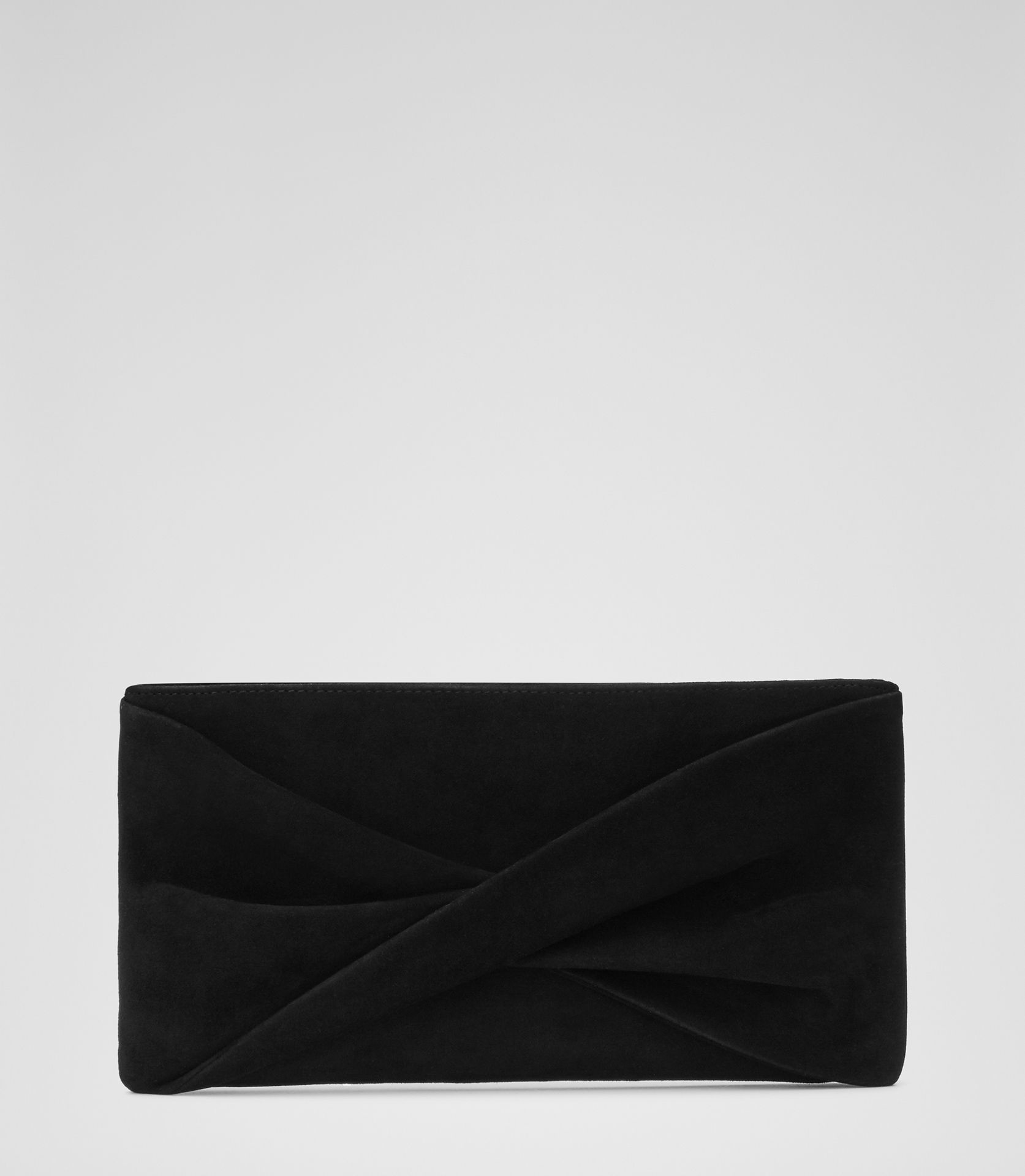 Baby Beau - Leather Clutch Bag in Black, Womens Reiss