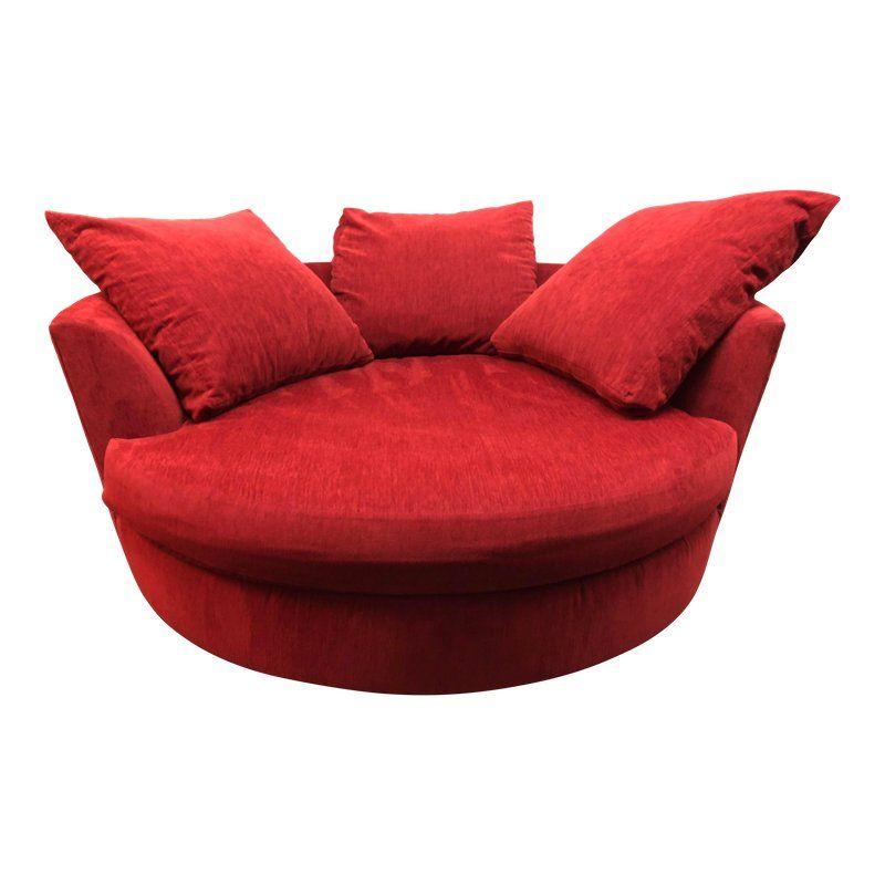 Contemporary Lazar Furniture Cuddle Circle Swivel Lounge