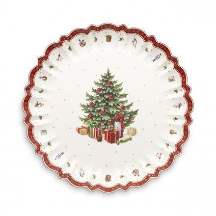 Babbo natale e pupazzo di neve ceramica piatto da portata vassoio. Villeroy Boch Coppa Da Portata Toy S Delight Natale Piatti Di Natale Tabelle Di Natale Vassoi Da Portata