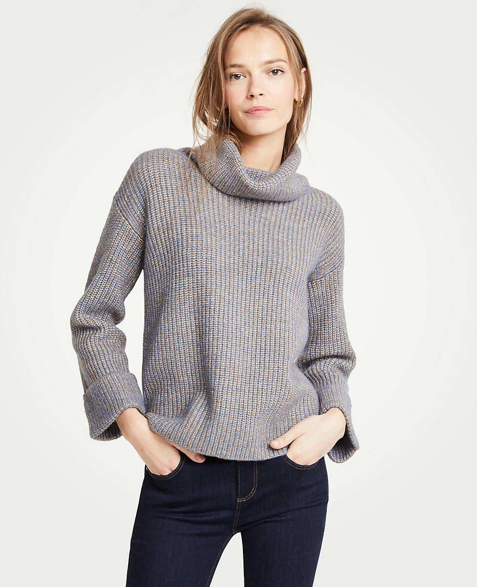 1519758d3ecb Petite Cuffed Turtleneck Sweater