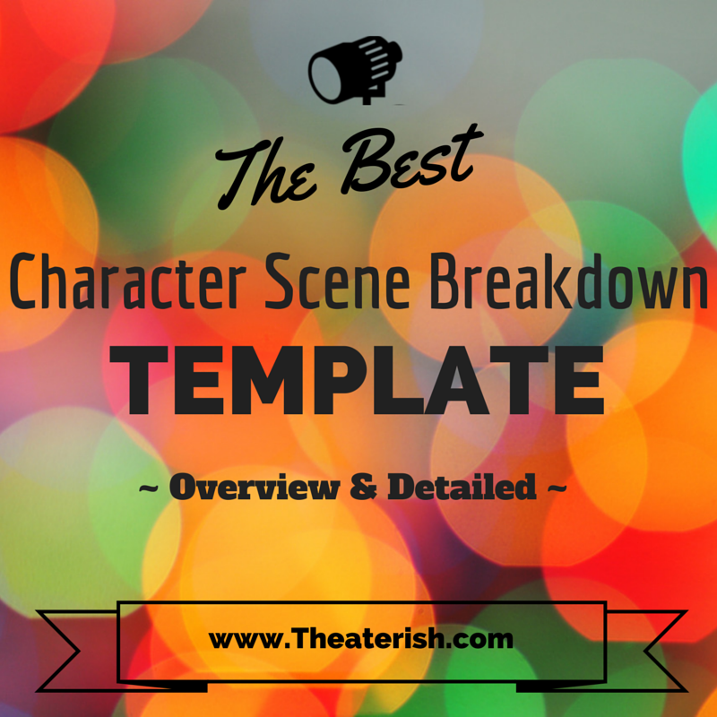 Detailed And Overview Character Scene Breakdown Template Mark