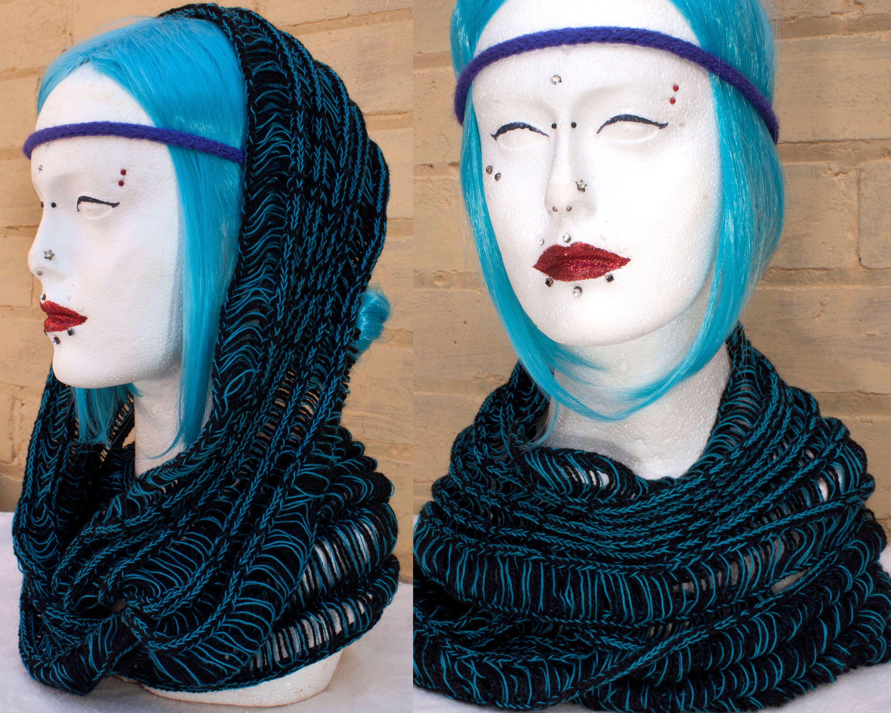 Machine knit infinity scarf   tejido maquina   Pinterest   Patrones ...