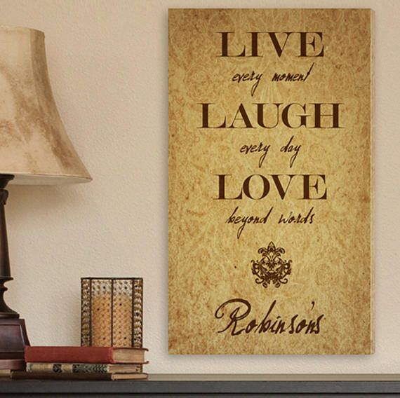 Personalized Live Every Moment Canvas Print Family Canvas ...