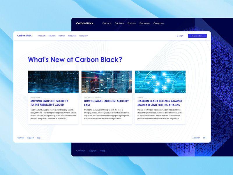 Carbonblack News Section | Dribbble / ui