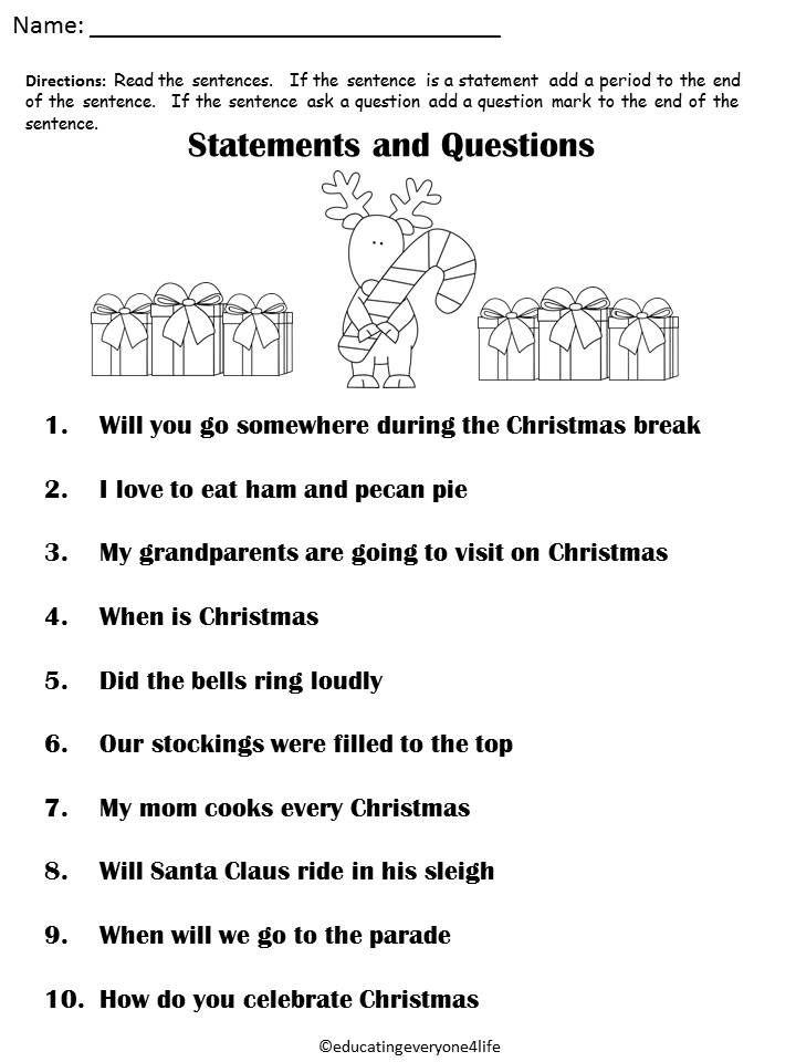 Free Christmas Worksheet | xmas | Pinterest | Worksheets, School and ...