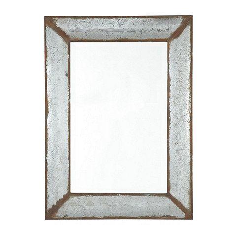 Zinc framed mirror ballard designs