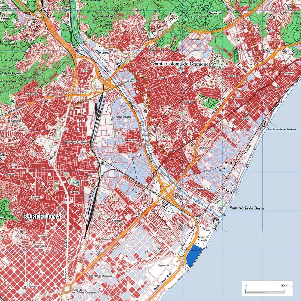 Mapa Santa Coloma De Gramenet Electricistas Recursos Didacticos