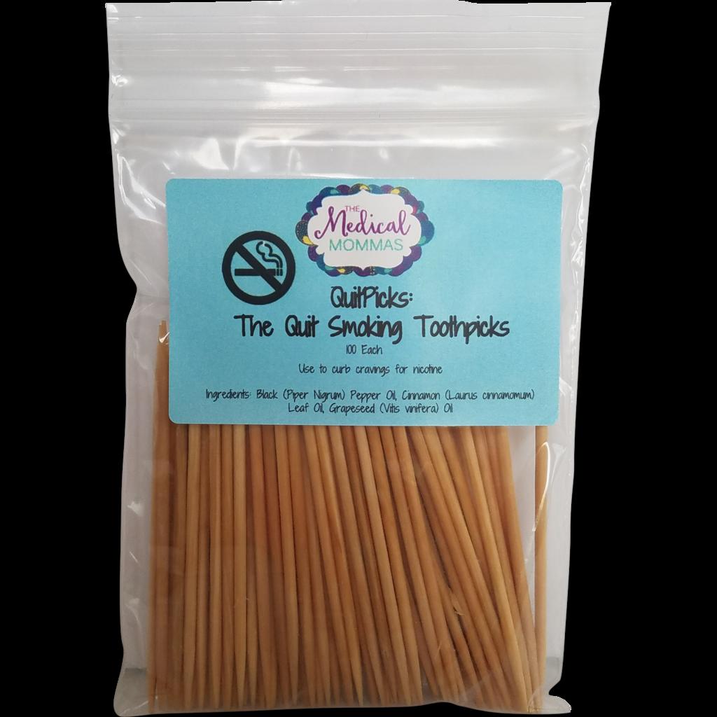Quitpicks Essential Oil Flavored Toothpicks Stop
