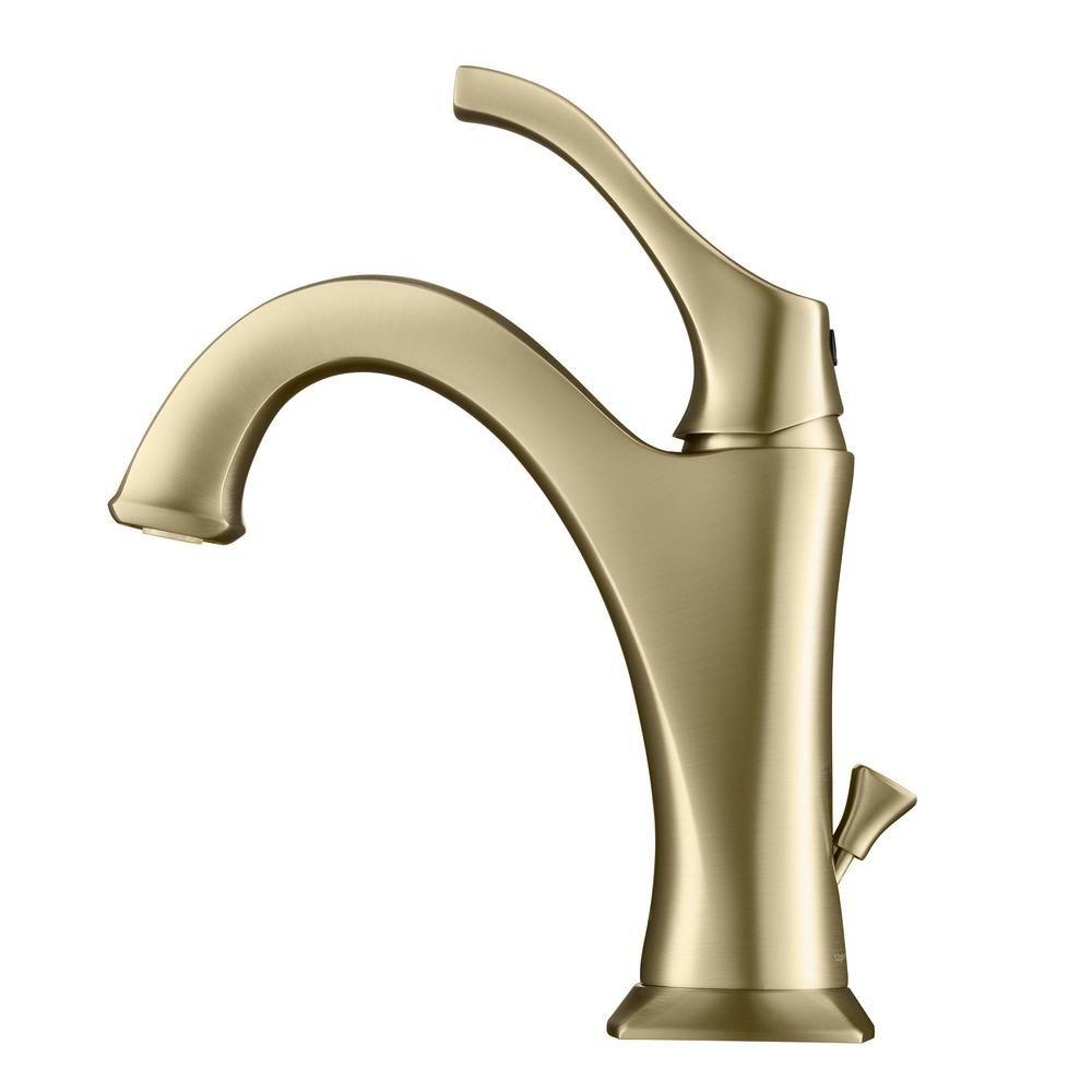 Kraus Arlo Single Hole Single Handle Bathroom Faucet With Lift Rod