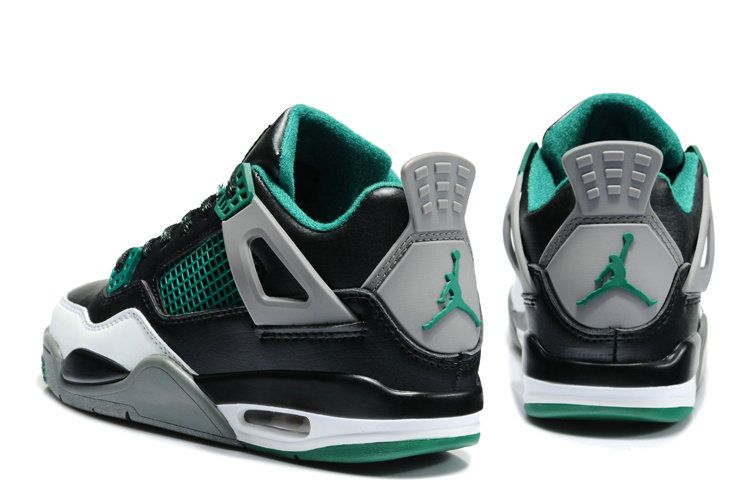 a27e64a452b76 Air Jordan IV Kids Dark Grey Green Glow