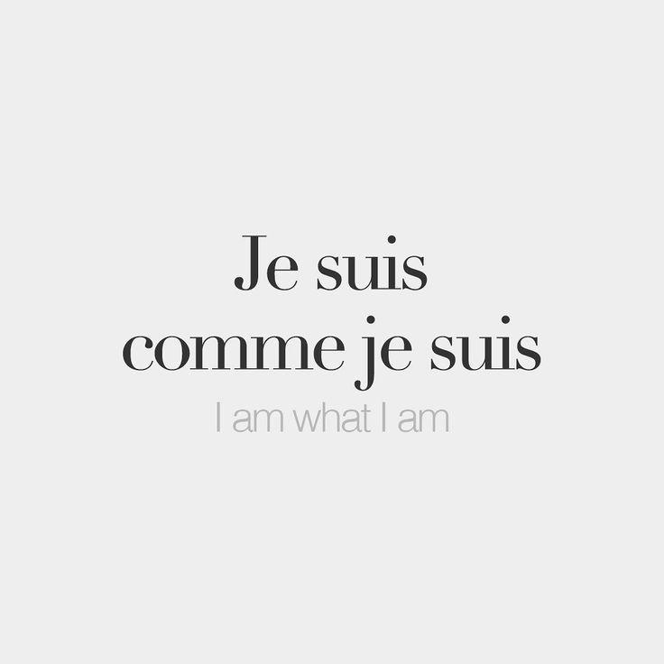 Je suis comme je suis • I am what I am • /ʒə... - #comme #francaise #je #suis #ʒə