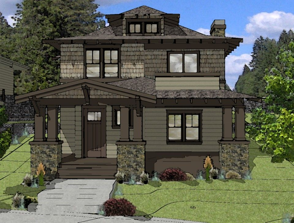 Foursquare Style House Plan Northwest Crossing