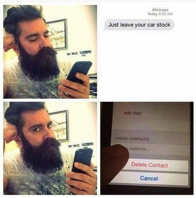 Just Leave Your Car Stock Meme Car Jokes Funny Car Memes Funny Beard Memes