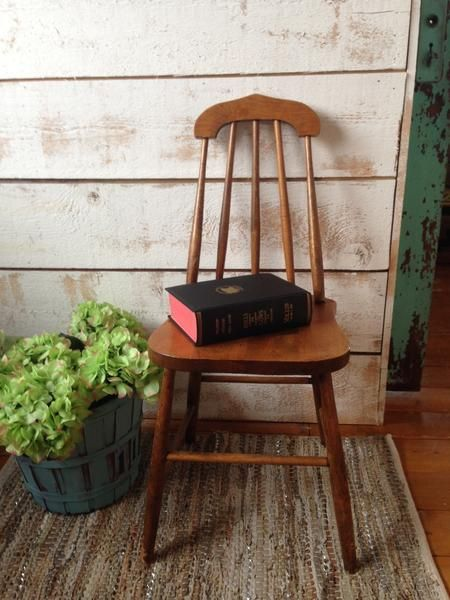 Vintage Wood Chair The Passionate Home Langley Bc