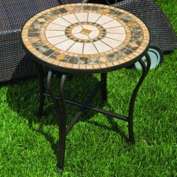 Alfresco Home Compass Mosaic Side Table. Only $359.00 FREE Shipping.  #PatioFurniture #furniture