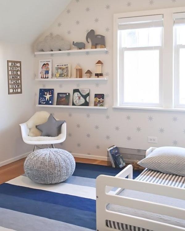 La habitaci n de beb con estrellas hudson http www - Alfombra habitacion nino ...