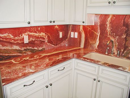 red onyx granite counter top and back splash | granite | pinterest