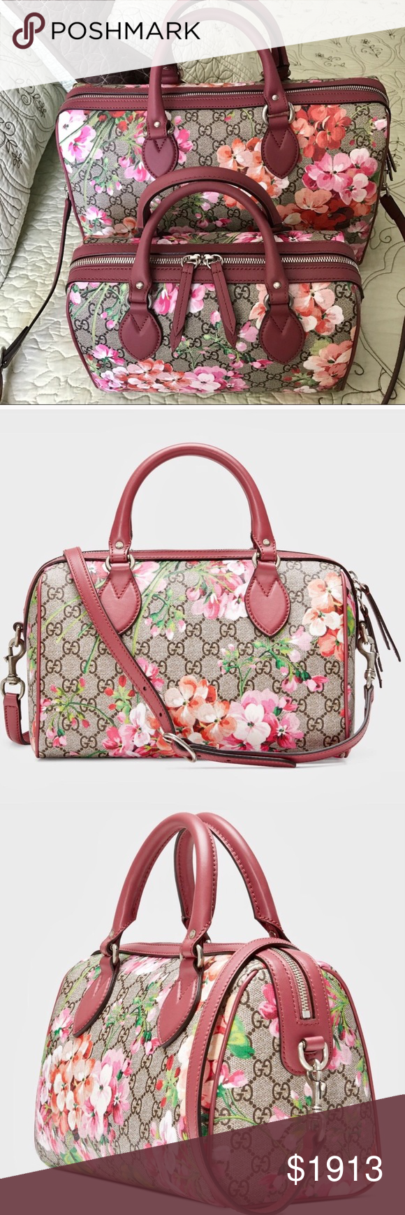 fde271719a0990 GUCCI™ Blooms 🌸SMALL Boston 👜 ONE size SMALL GUCCI™ Blooms 🌸print ...