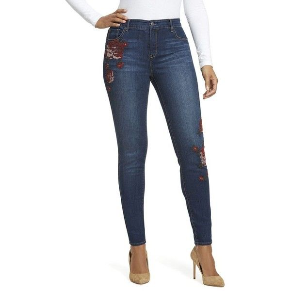 Curvy skinny jeans short