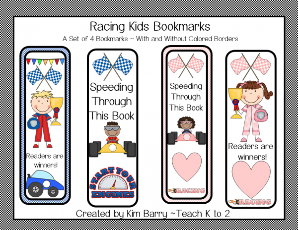 Photo of Racing Kids Bookmarks/Bookmarks for Kids/Teachers/Digital Download/Student Incentives/Book Lovers/BTS/Back to School by Teach K to 2
