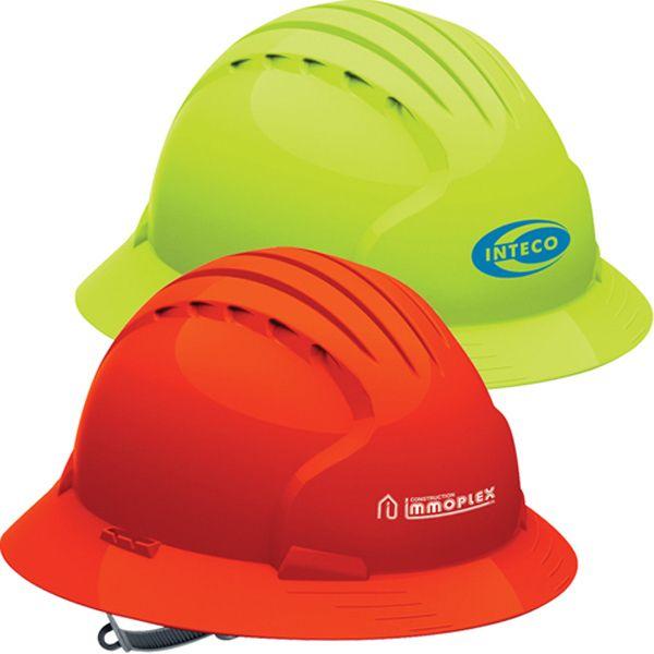 Evolution Tm 6141 Full Brim Hi Vis Hard Hat Hard Hat Hats Hard Hats