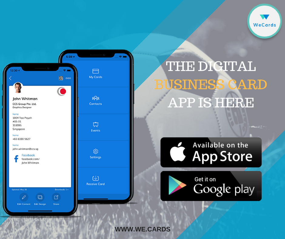 3 Steps To Make Your Digital Businesscards More Social Get The Wecards App Create Your Cards Share The Cards With Any Digital Business Card Business Cards App