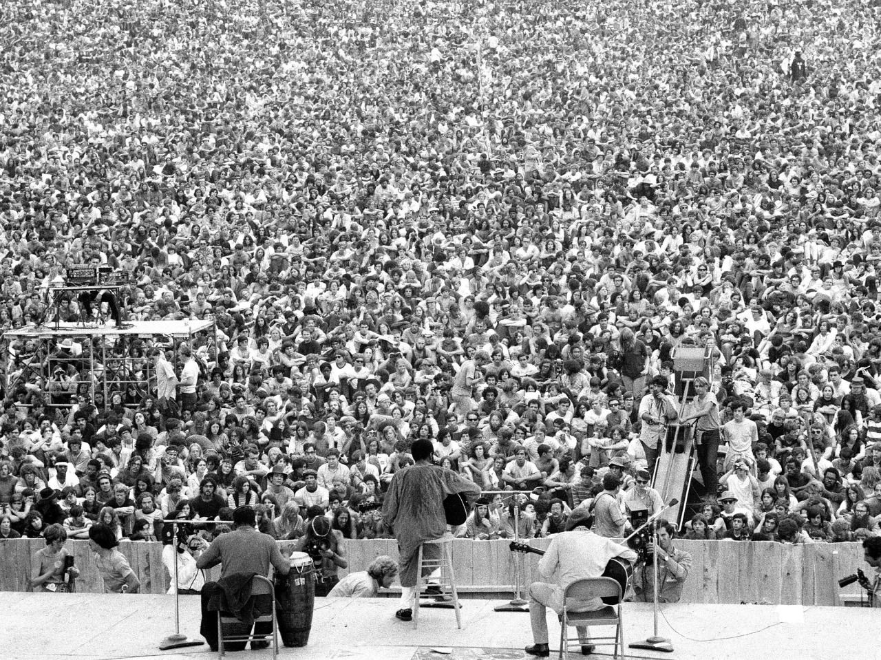 Richie Havens at Woodstock, 15 August 1969 I have a relative somewhere in that crowd. Truly: ) Miss Folly