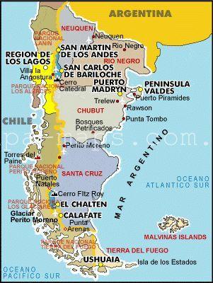 Mapa De La Patagonia Argentina Pinterest Argentina - Argentina map bariloche