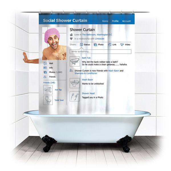 Social Shower Curtain | spinninghat.com