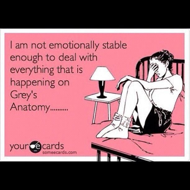 Damn you Grey's Anatomy!