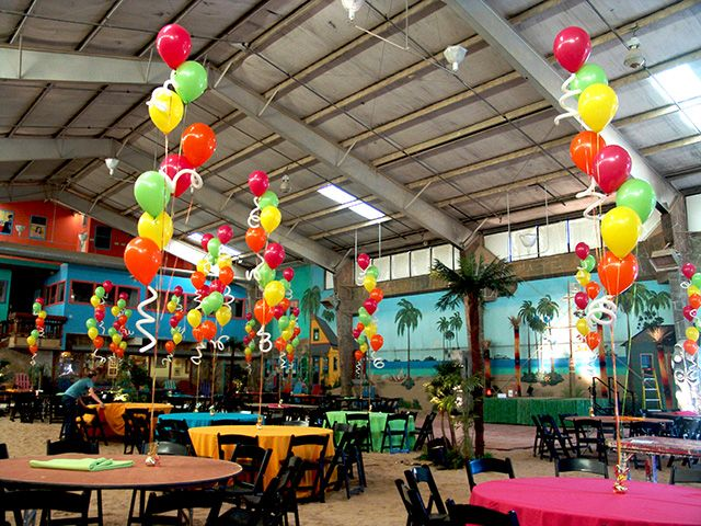 tropical paradise party ideas some red hot balloon decorations and