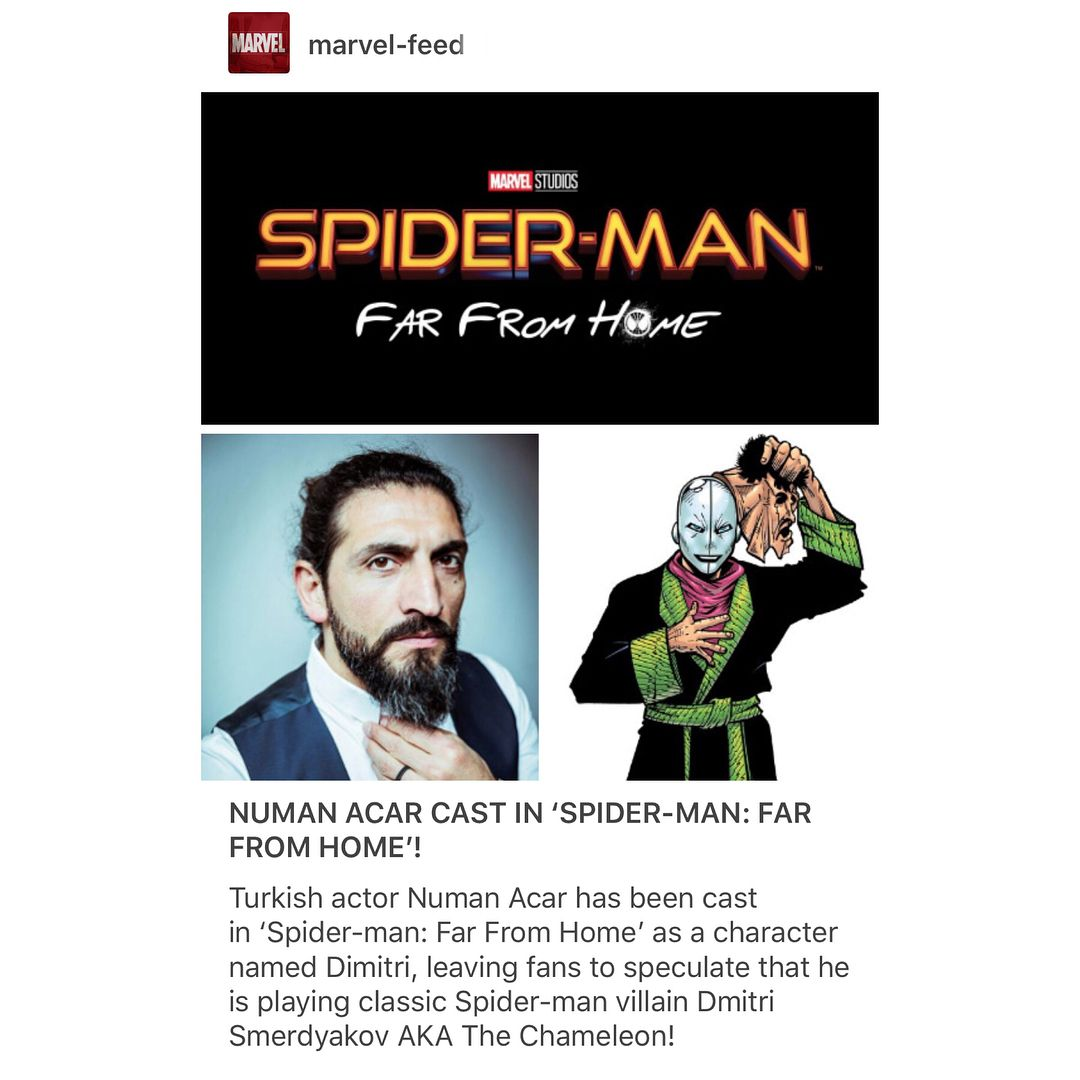 Numan Acar has been casted in Spider-Man: Far From Home playing a