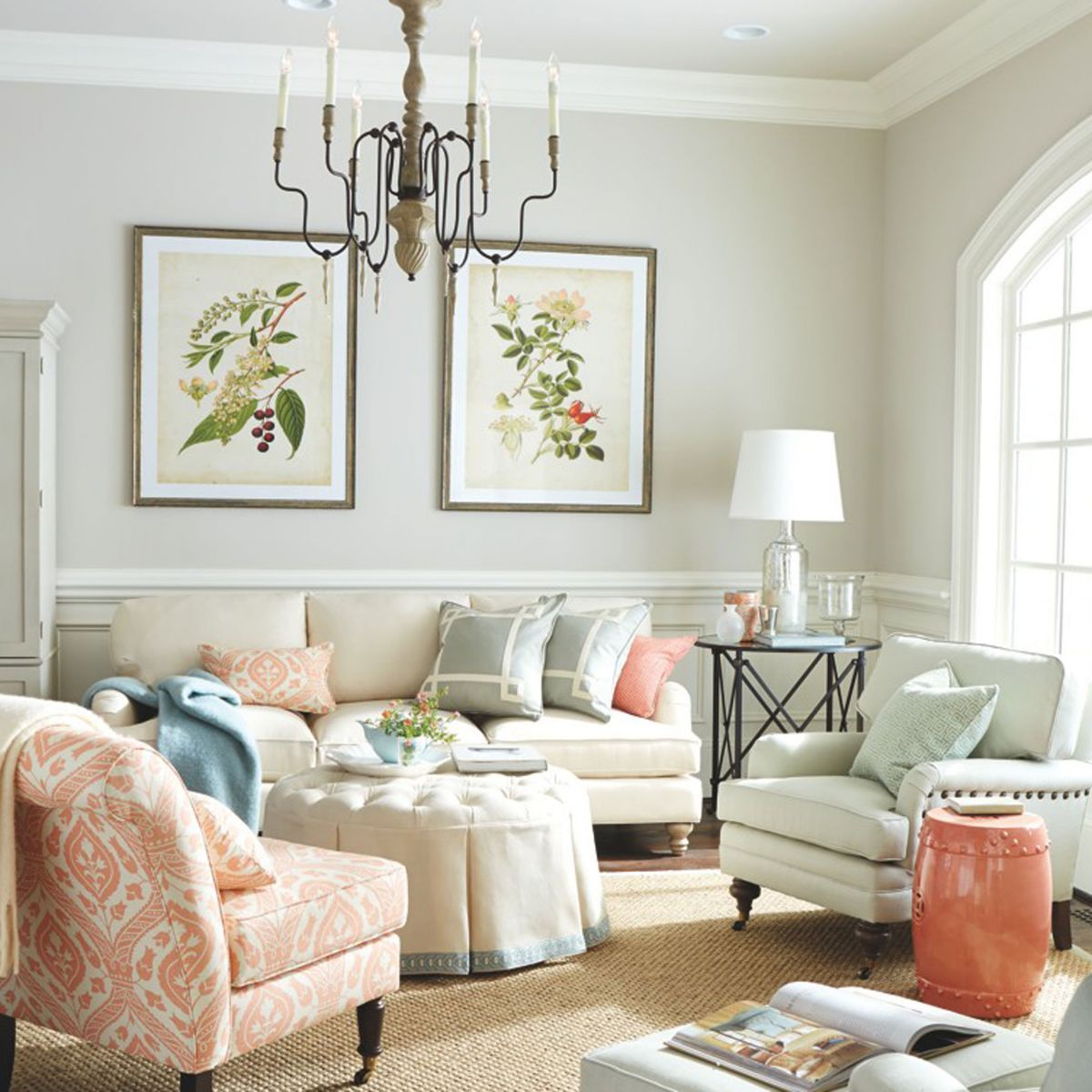 How to Decorate a Neutral Living Room with Pops of Color ...
