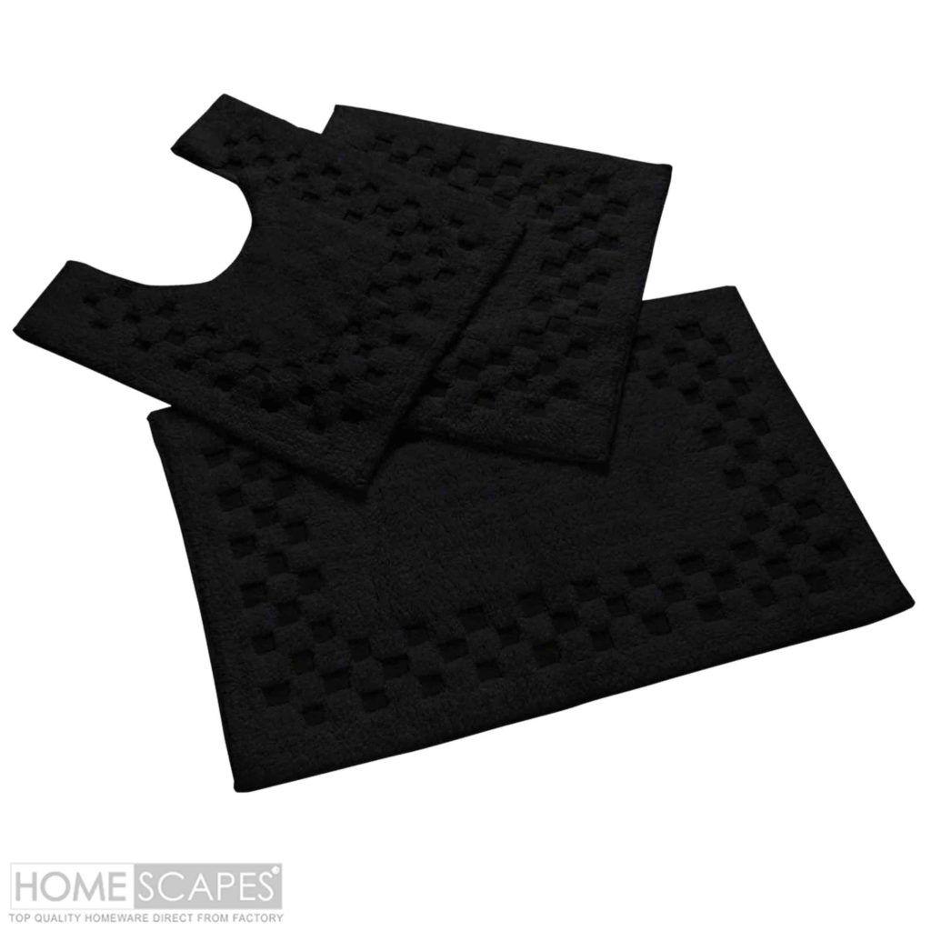 Black Bath Mats Sets Bathroom Decor Pinterest Black Bath Mat - Black bath mat set for bathroom decorating ideas