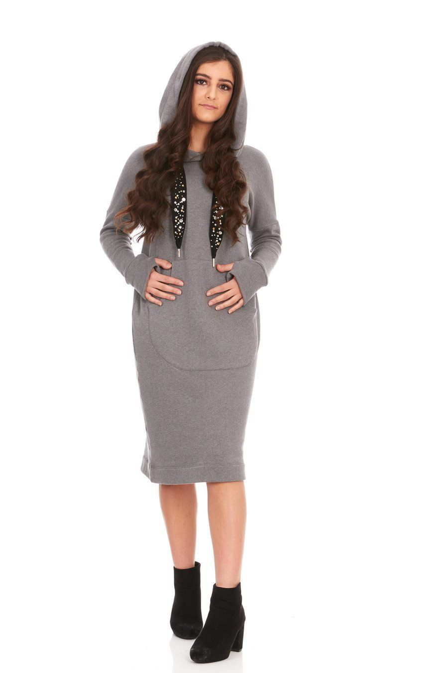 581d7a172b adorable and cozy sweater dress with dazzled drawstrings!