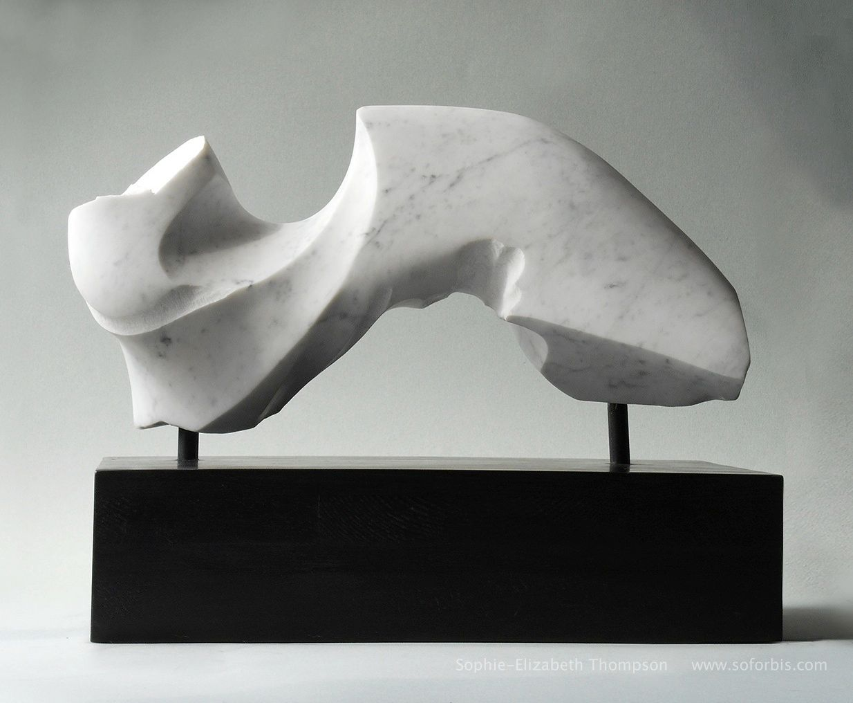 To The Point Gift Handmade Grey And White Modern Abstract Sculpture