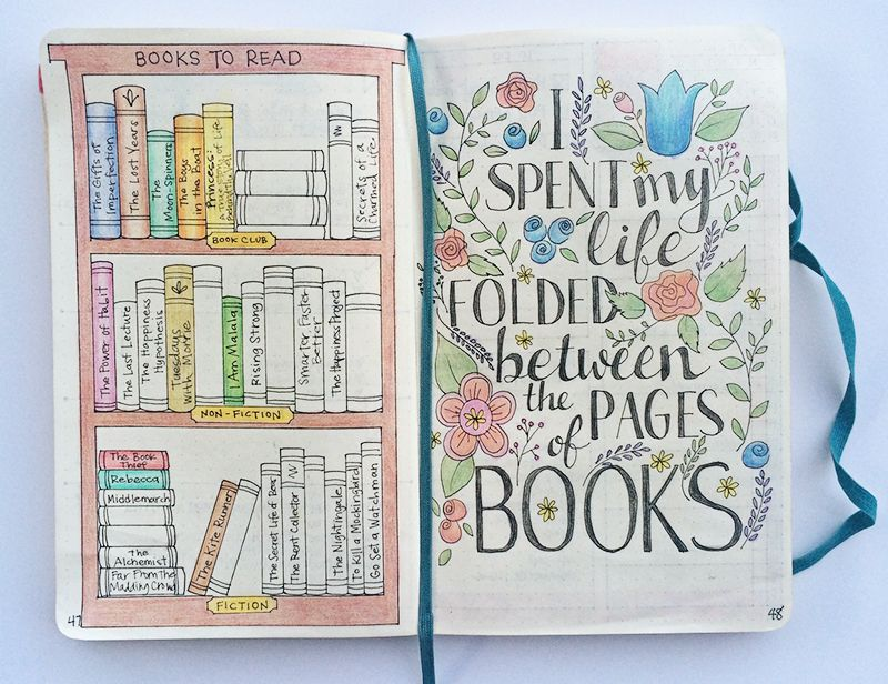 adorable bookcase and quote page  bulletjournal